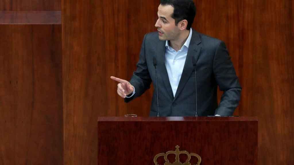 Ignacio Aguado en la Asamblea de Madrid.