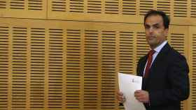 El rector de la Universidad Rey Juan Carlos, Javier Ramos, hoy en la rueda de prensa. /Efe