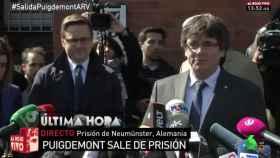 Puigdemont se queda sin repercusión a su salida de la cárcel en la tele nacional