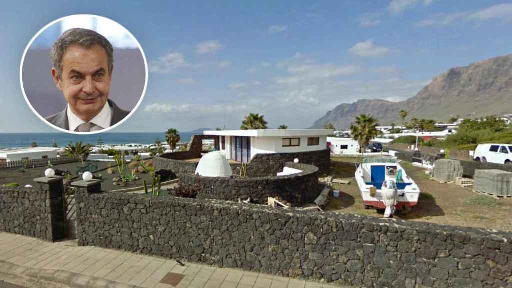 La casa de Zapatero en Lanzarote en un montaje.