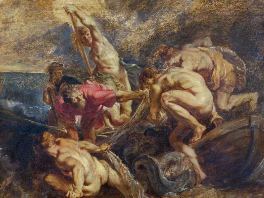 La pesca milagrosa, boceto de Rubens, de 1610.