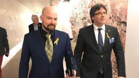 Mikko Karna y Carles Puigdemont en un acto reciente.