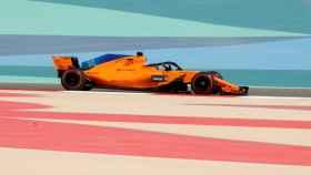 Fernando Alonso durante los entrenamientos de Bahréin.