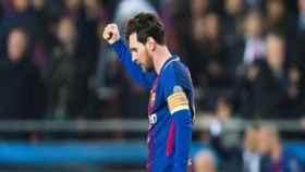 Messi celebra un gol del Barça. Foto: fcbarcelona.es