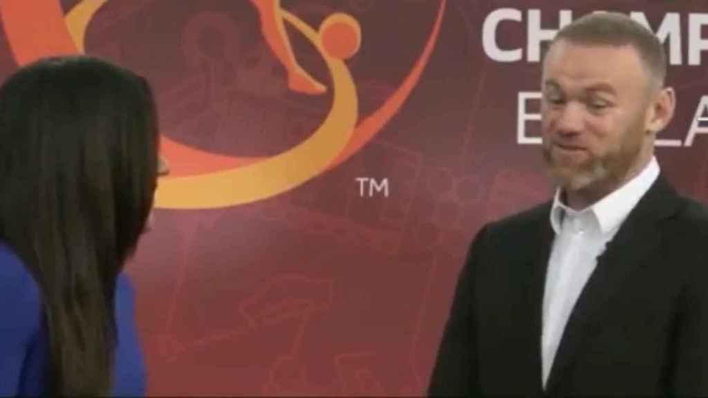 Rooney durante la entrevista