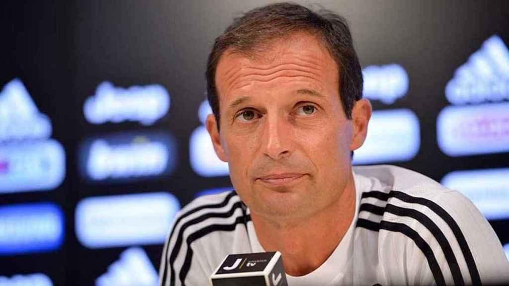 Allegri, técnico de la Juventus, en rueda de prensa. Foto: juventus.com