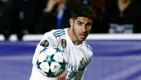 Asensio, en un partido del Real Madrid