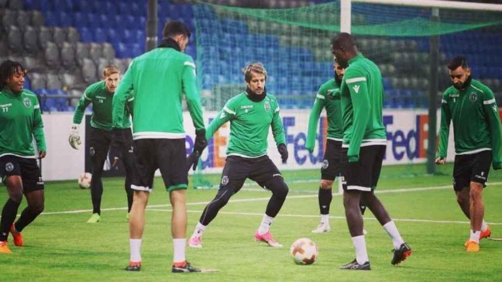 Coentrao en un entrenamiento. Foto: Twitter (@Sporting_CP).