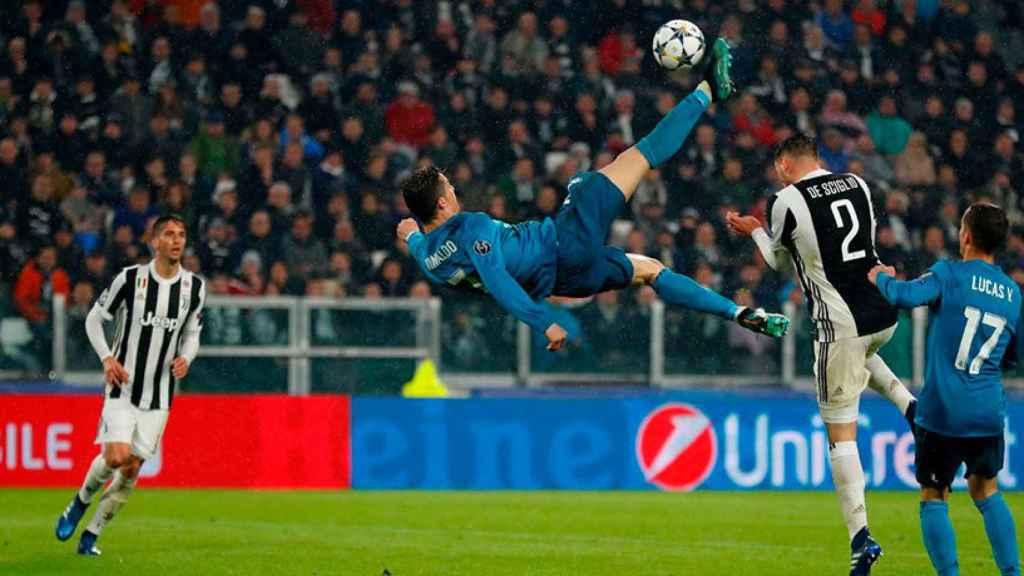 Cristiano Ronaldo marca de chilena su segundo gol