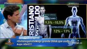Edu Aguirre habla de Cristiano Ronaldo en El Chiringuito. Foto: Twitter (@elchiringuitotv).