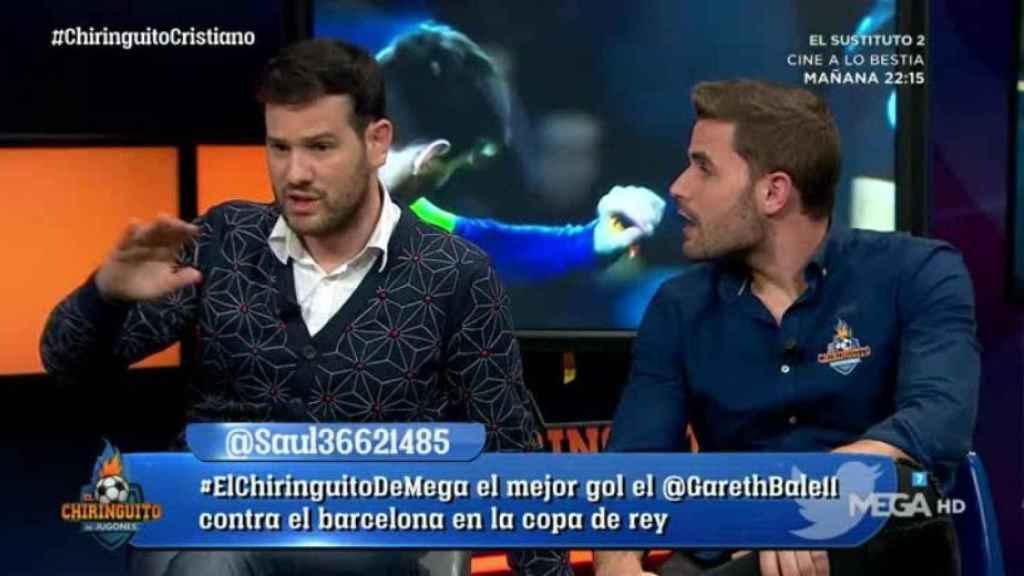 Quim Domenech alaba a Cristiano Ronaldo. Foto: Twitter (@elchiringuitotv).