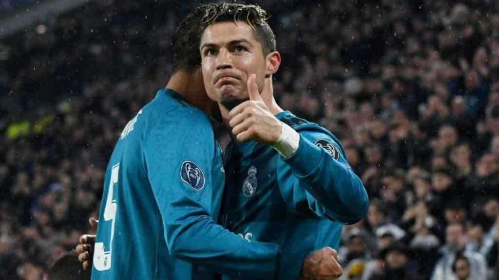 Cristiano celebra su gol contra la Juventus. Foto Twitter (@ChampionsLeague)