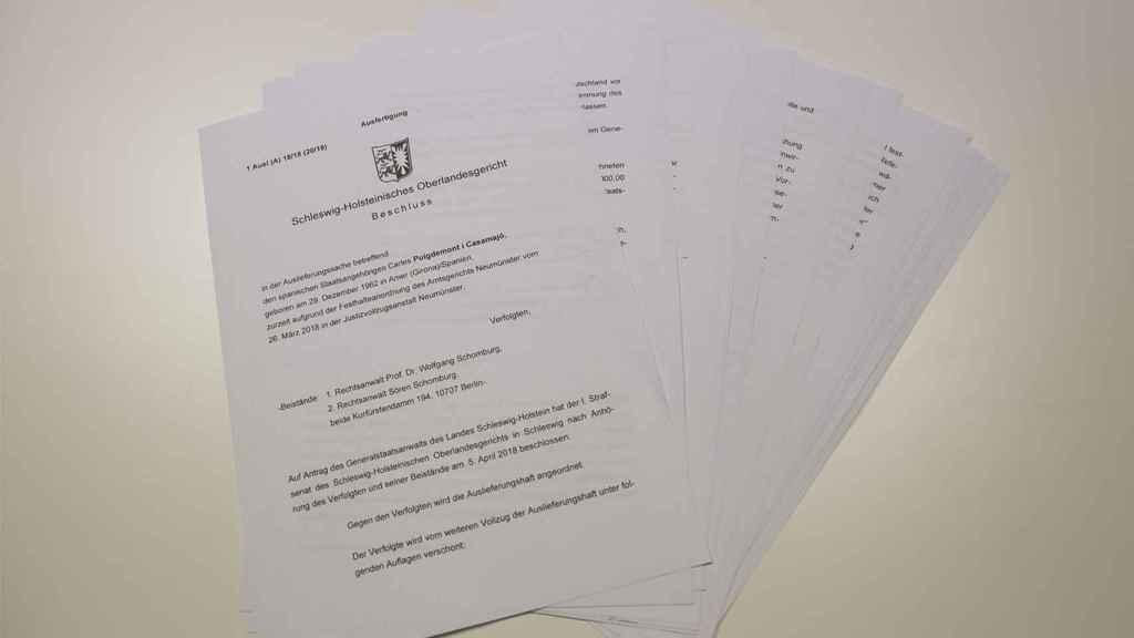Resolución del tribunal alemán que ha liberado a Puigdemont.