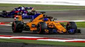 Fernando Alonso, durante la clasificación de este sábado en Bahréin.