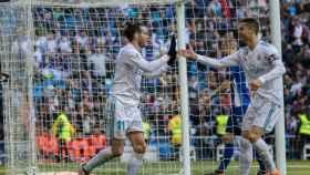 Bale y Cristiano celebran un gol. Foto: Pedro Rodríguez / El Bernabéu
