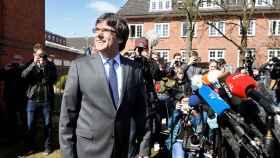 Puigdemont, a su salida el viernes de la prisión de Neumünster.