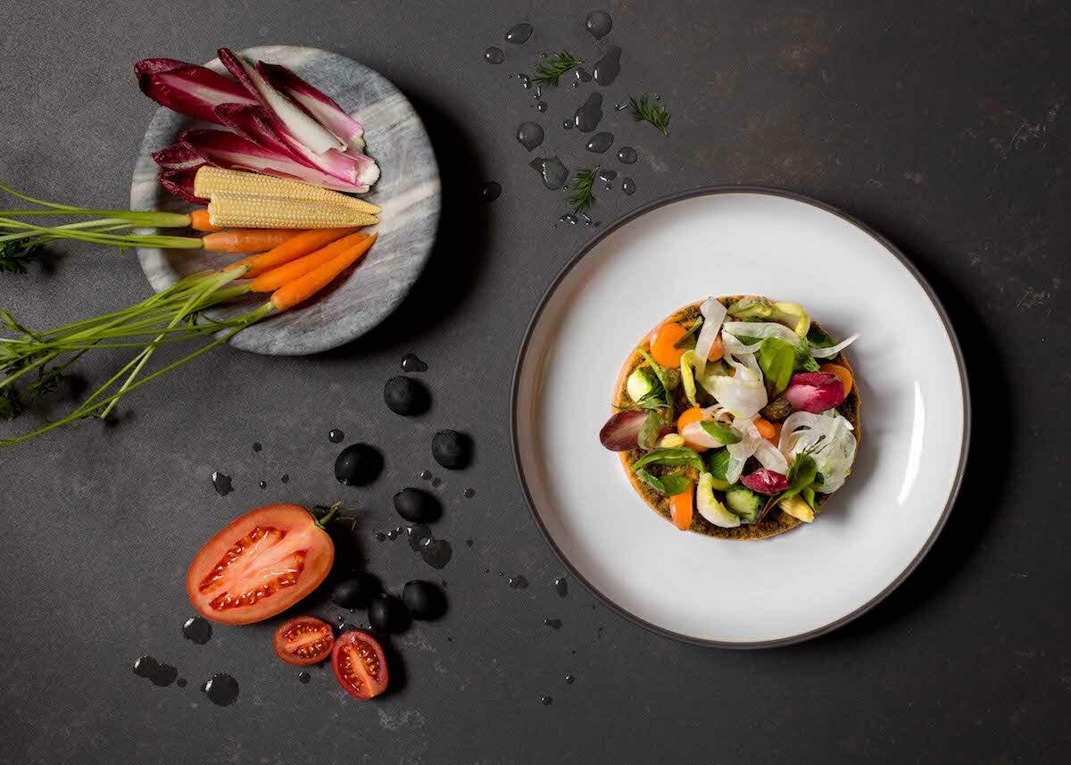 Restaurante Alameda Madrid - crudites y verduras