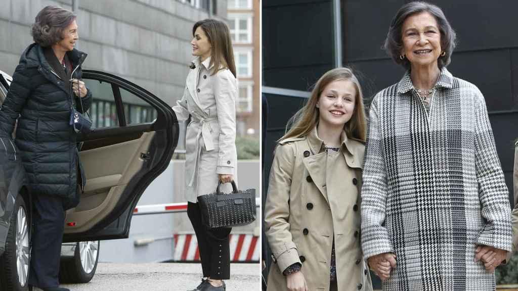La primera imagen con Letizia ocurría el sábado, y la de Leonor, el domingo.
