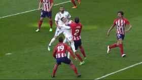 Partido entre Real Madrid y Atlético de Madrid.