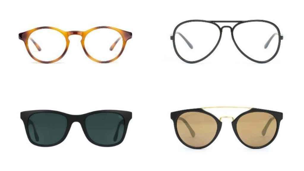 Las gafas en un montaje.