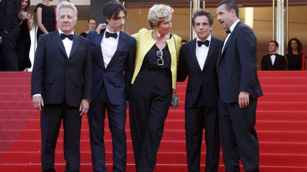 The Meyerowitz Stories, una película de Netflix en Cannes el año pasado.