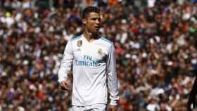 Cristiano Ronaldo, en el partido contra el Atleti. Foto: Pedro Rodriguez/El Bernabéu