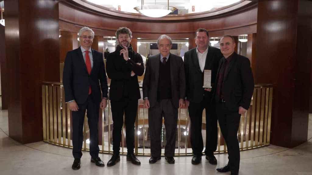 Ignacio García-Belenguer, Pablo Heras Casado, Gregorio Marañón, Bolyon y Joan Matabosch, en el Teatro Real.