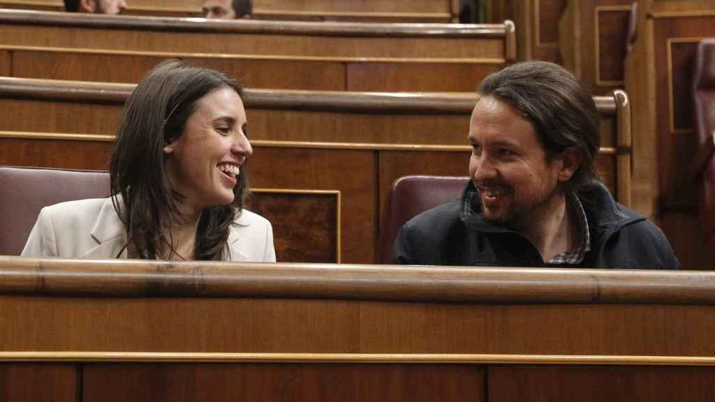 Pablo Iglesias e Irene Montero, compañeros de vida y de partido