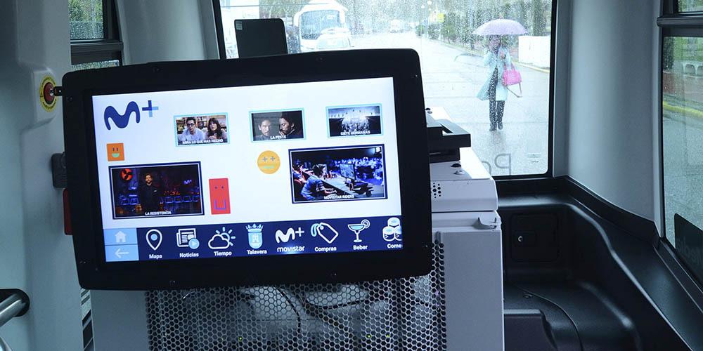 quinta pantalla carmedia microbus autonomo telefonica españa 5g talavera de la reina
