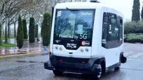 telefonica microbus autonomo españa 5g