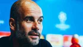 Guardiola, en rueda de prensa. Foto: mancity.com