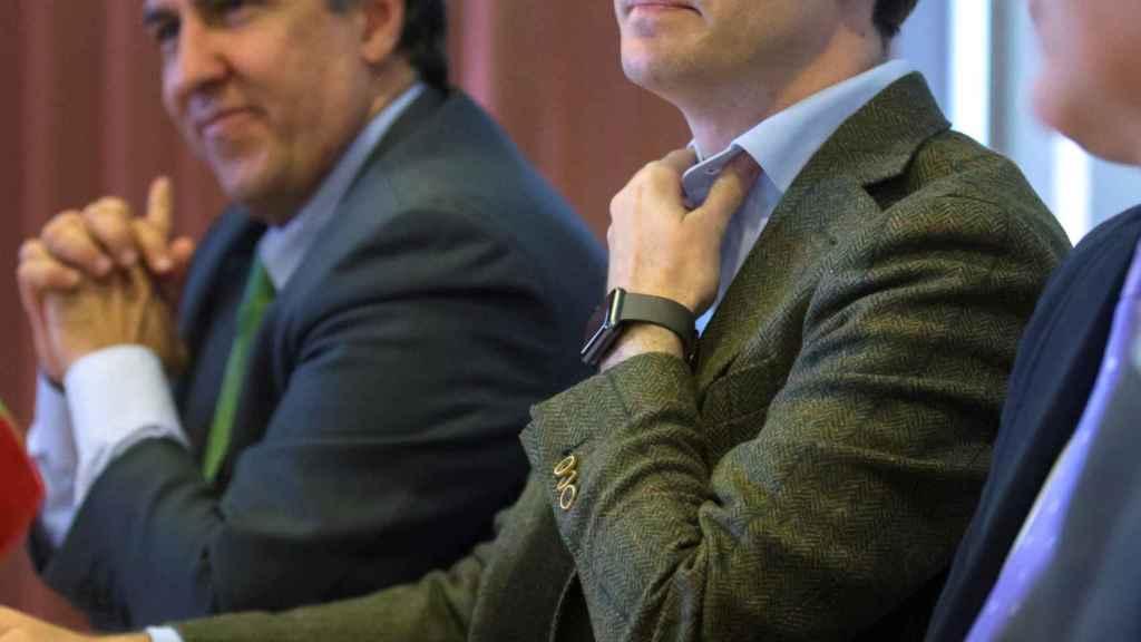Pablo Casado, durante una rueda de prensa en Ávila.