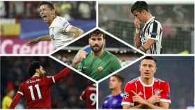 Lenglet, Dybala, Alisson, Salah y Lewandowski