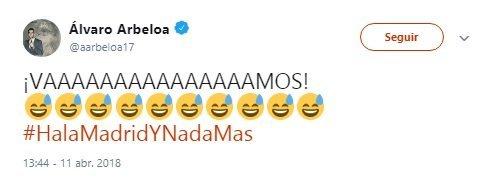 Así celebraron Guti y Arbeloa en Twitter el pase a semis