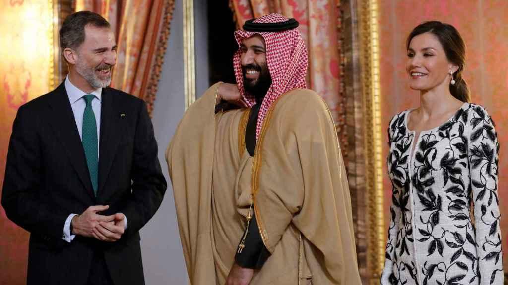 Los reyes con Mohamed Bin Salman este jueves