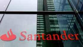 Logo del Banco Santander en una imagen de archivo.