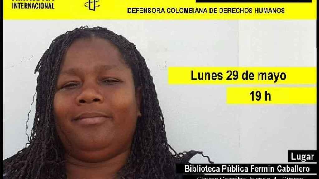 Cartel que anunciaba un encuentro con Doris el pasado 29 de mayo en Cuenca.