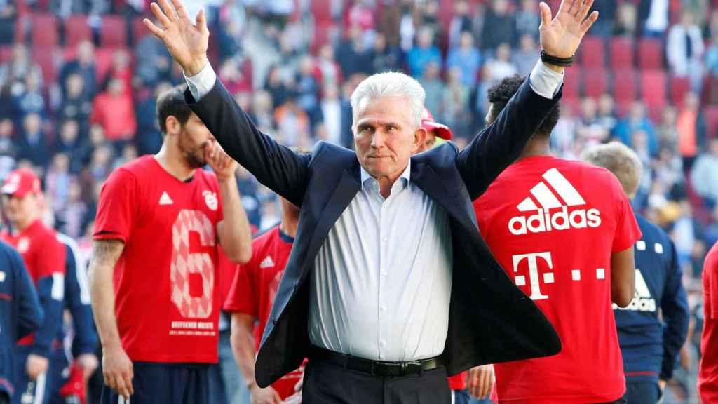 Heynckes, en la celebración de la Bundesliga del Bayern.