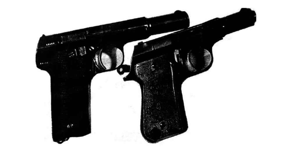 Las pistolas de Etxebarrieta y Sarasketa. Foto de la Guardia Civil, incluida en el proyecto `Historia de un desafío´(Editorial Península).