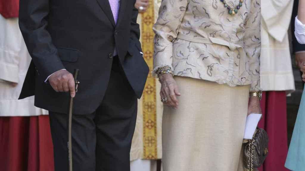 Juan Carlos y Sofía, en la catedral de Palma.