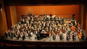 La Orquesta Sinfónica de Baleares, durante un concierto.