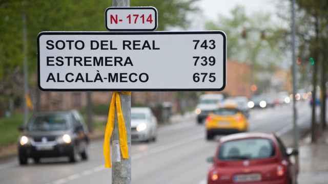 La señal colocada en el pueblo de Bordils (Girona)