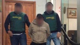 Detención de la Guardia Civil practicada en Almería.