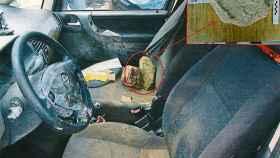 El vehículo de los jóvenes rescatado del pantano de Susqueda con la piedra del acelerador