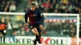 Rivaldo, con el Barcelona. Foto: fcbarcelona.com