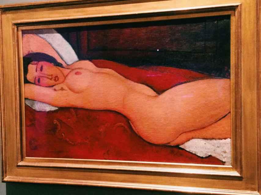 Reclining nude, de Modigliani.