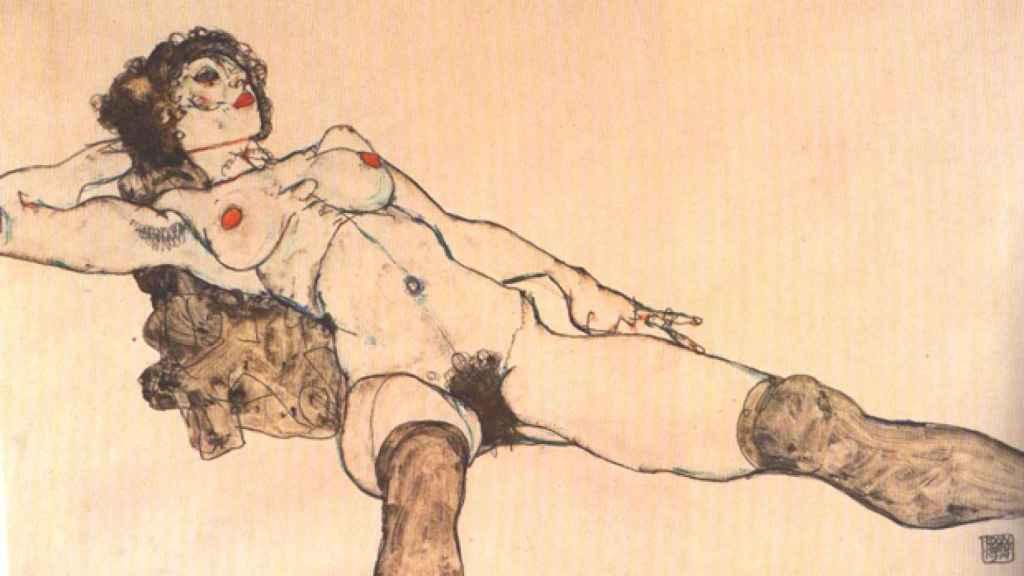 Uno de los desnudos de Egon Schiele que expondrá pronto el MET. Se plantea incluir una marca que recuerde que era un presunto abusador.