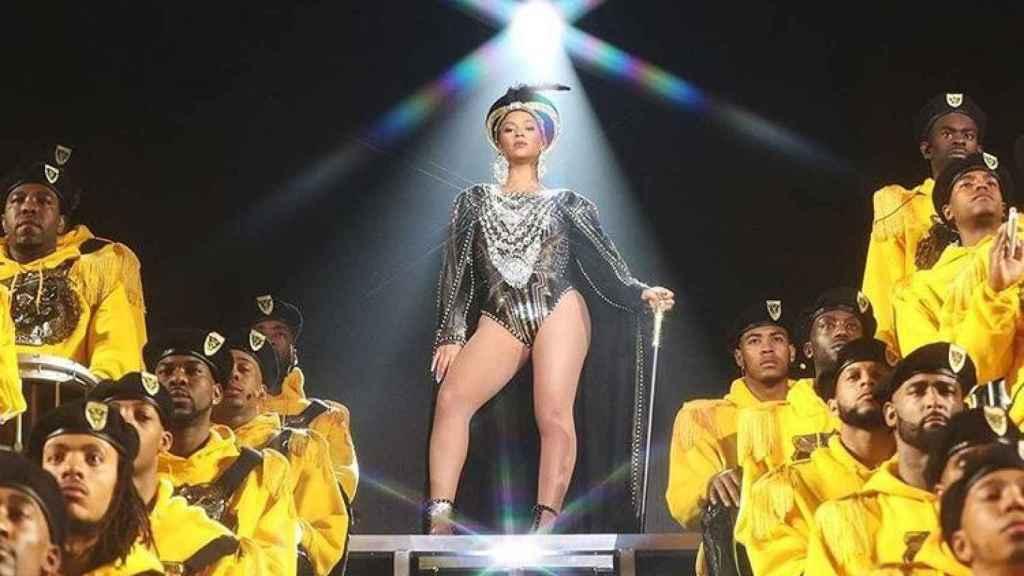 Beyoncé durante su actuación.