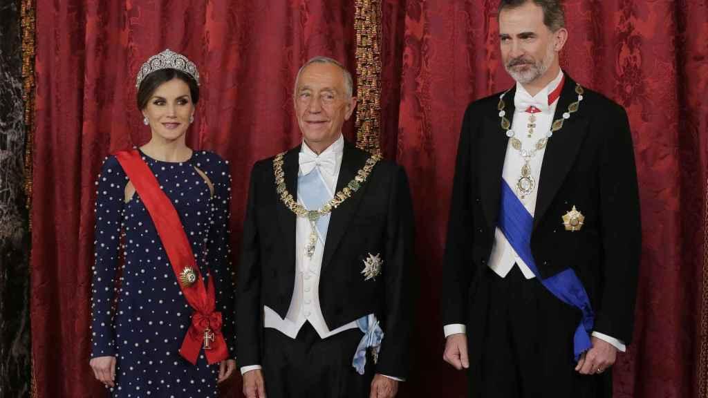 Letizia, de Ana Locking, en su cena de gala con el presidente de Portugal