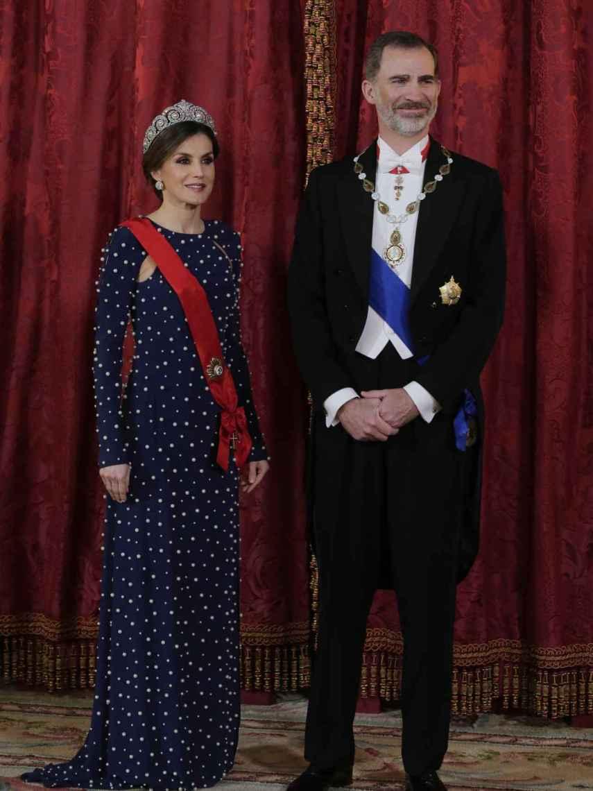 Los Reyes, Felipe VI y Letizia, en el Palacio Real